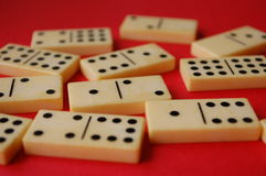 Domino. A collection of old domino stones Royalty Free Stock Photo