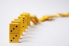 Domino. Effect with row impact royalty free stock images