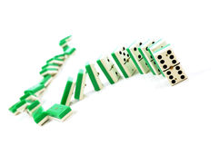 Domino. Suit of dominoes falling down royalty free stock images
