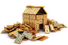 Domino. Cottage from the golden domino. isolated on white. with clipping path royalty free illustration