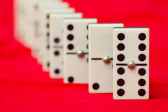 Domino. A row of domino tiles Royalty Free Stock Images
