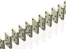 Domino. A quantity of subjects for a domino, exposed in some sequence. Figure Stock Photo