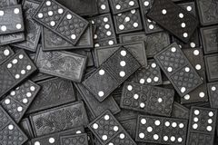 Domino. Some black domino as a background Royalty Free Stock Images