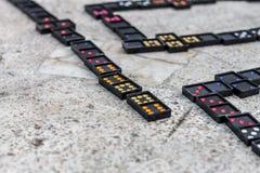 Domino Royalty-vrije Stock Afbeeldingen