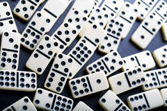有趣Domino的比赛 免版税图库摄影
