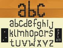 Domino alphabet 1.2 Stock Photos
