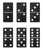 Domino black set Royalty Free Stock Photo