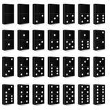 Domino black set vector illustration Stock Photo