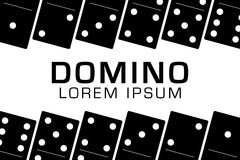 Domino black set vector illustration on white background.  Royalty Free Stock Images