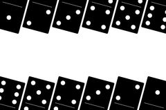 Domino black set vector illustration on white background.  Royalty Free Stock Photography