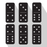 Domino black three and five icon illustration of six pieces. Stock Photos