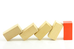 Domino of blocks Stock Photo