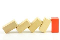 Domino of blocks Stock Photo