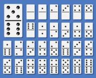Domino bones set vector illustration