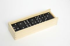 Domino in box. Domino bones Royalty Free Stock Photography