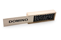 Domino into the box Stock Photography