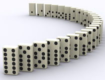 Domino Breaks Royalty Free Stock Photo