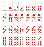 Domino cards - red Royalty Free Stock Photos