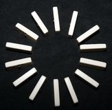 Domino circle Stock Image
