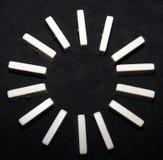 Domino circle Stock Image