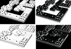 Domino collection Royalty Free Stock Images