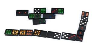 Domino coloré Images libres de droits