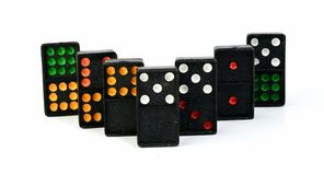 Domino Colourful Fotografia Stock Libera da Diritti