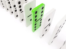Domino concept isolated Stock Photos