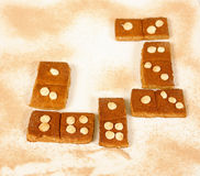 Domino cookies Royalty Free Stock Images