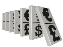 Domino currency Stock Photo