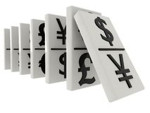 Domino currency Stock Image
