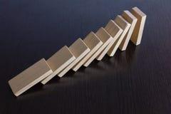 Domino_02 de queda imagem de stock