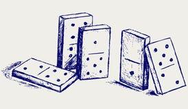 Domino di abbozzo royalty illustrazione gratis
