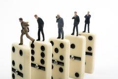 Domino di affari Fotografie Stock Libere da Diritti