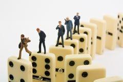 Domino di affari Fotografia Stock