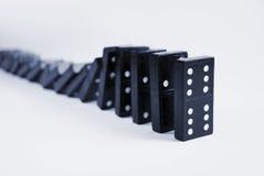 Domino di caduta Immagini Stock Libere da Diritti
