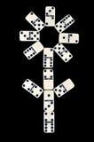 Domino die op een zwarte wordt geïsoleerda Stock Fotografie