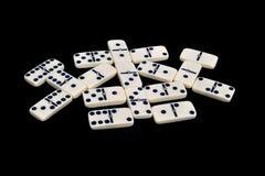 Domino die op een zwarte wordt geïsoleerdk Royalty-vrije Stock Foto