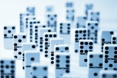Domino-Domino-Hintergrund Stockfotos