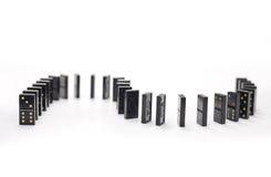 Domino dominobricka Royaltyfri Foto