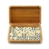 Domino in doos stock afbeeldingen