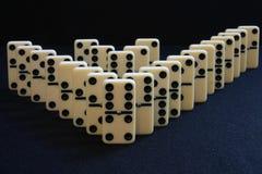 Domino doppeltes V Stockbild