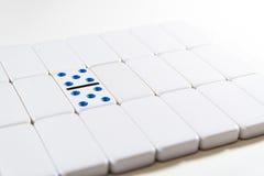 Domino - dubbla 5 fem Royaltyfri Foto