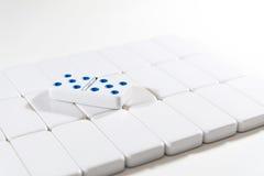 Domino - dubbla 5 fem Royaltyfria Bilder