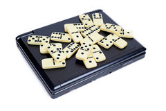 Domino on DVD player Stock Photography