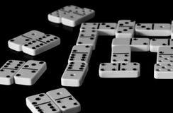 Domino, een spel zoals die Dominodomino stock afbeeldingen