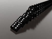 Domino effect. (see my portfolio Stock Image