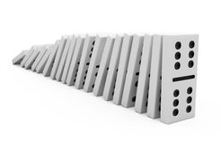 Domino Effect. Isolated on white - 3d illustration Royalty Free Stock Image