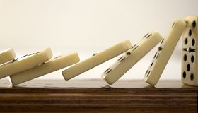 Domino effect Royalty Free Stock Photography