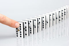 Domino effect Royalty Free Stock Image